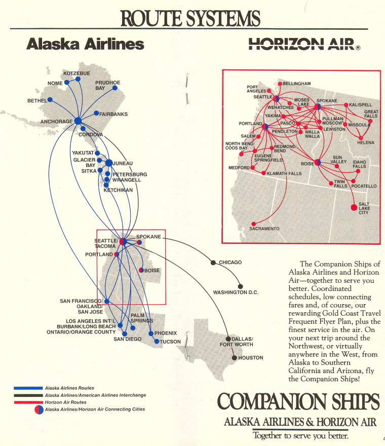 AS route map 1990 - FlyerTalk Forums